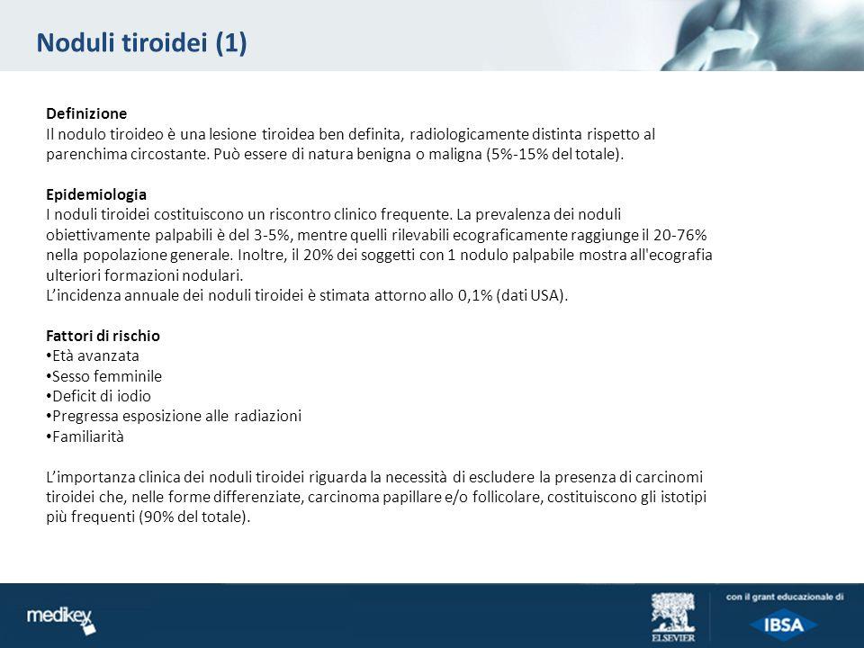 Noduli tiroidei (1) Definizione
