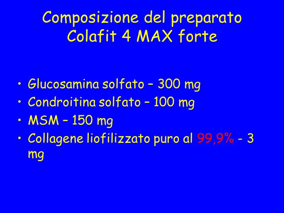 Composizione del preparato Colafit 4 MAX forte