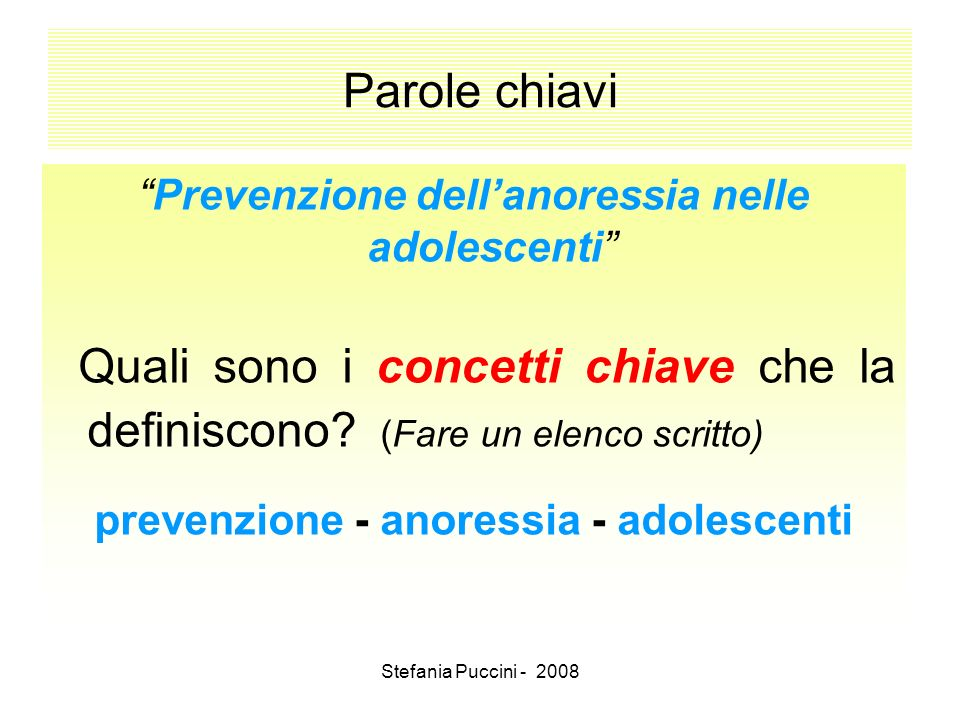 prevenzione - anoressia - adolescenti