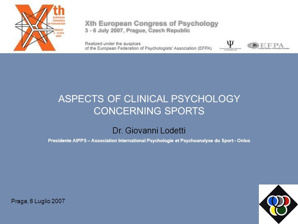 ASPECTS OF CLINICAL PSYCHOLOGY