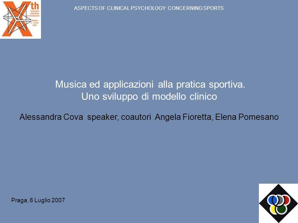 Musica ed applicazioni alla pratica sportiva.