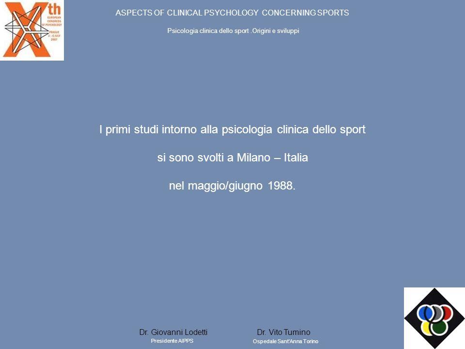 I primi studi intorno alla psicologia clinica dello sport