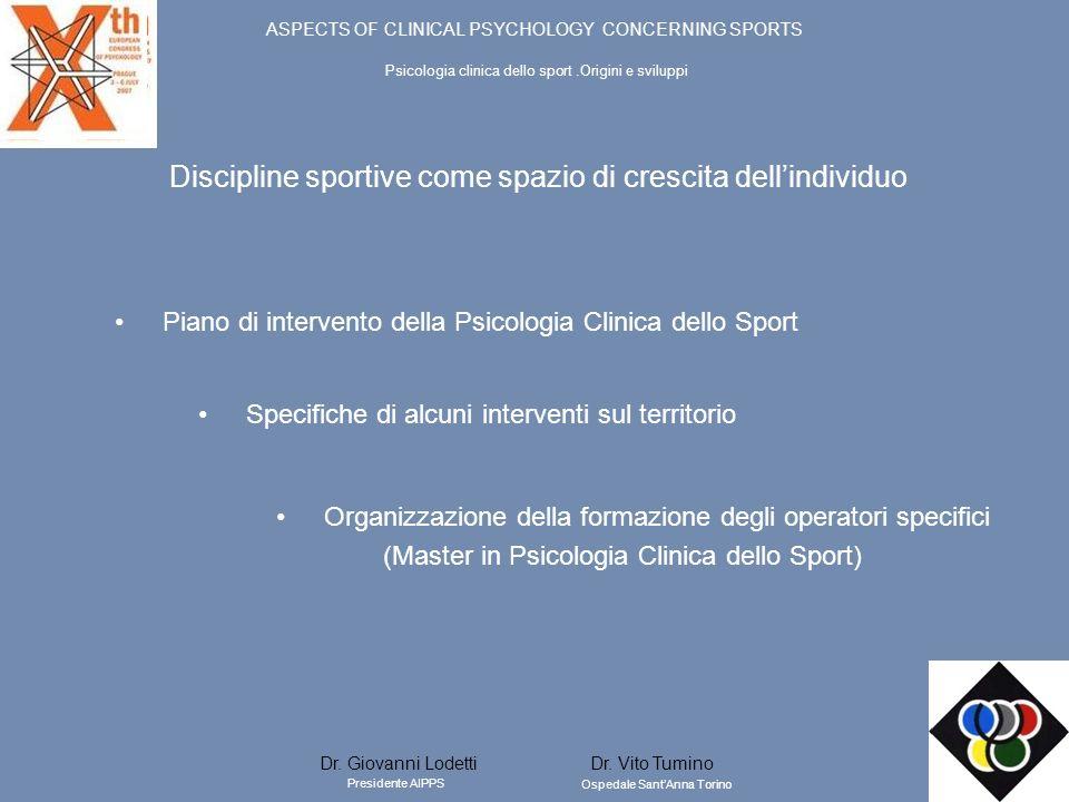 Discipline sportive come spazio di crescita dell'individuo