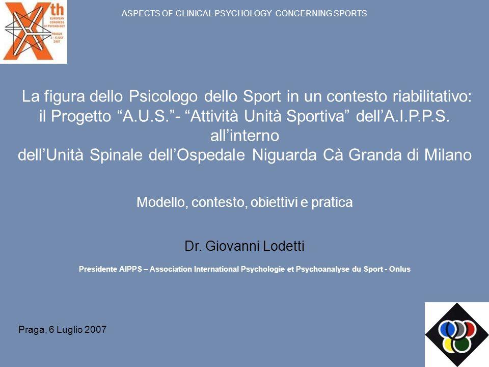 La figura dello Psicologo dello Sport in un contesto riabilitativo: