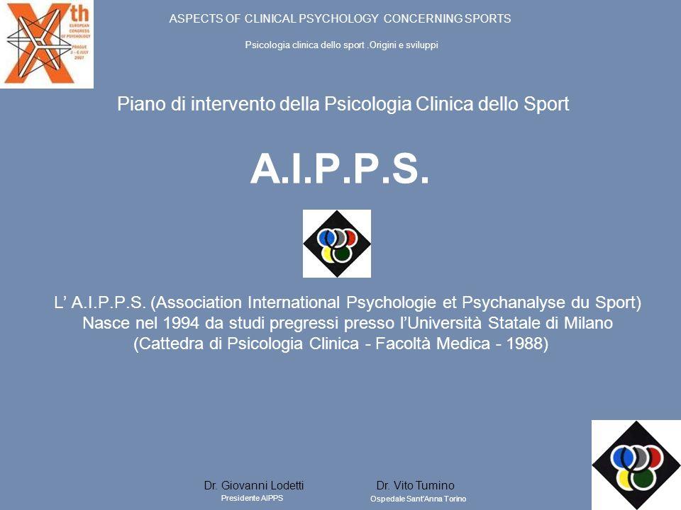 A.I.P.P.S. Piano di intervento della Psicologia Clinica dello Sport