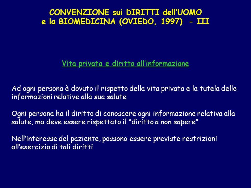 Vita privata e diritto all'informazione