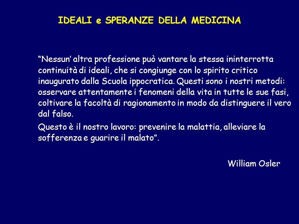 IDEALI e SPERANZE DELLA MEDICINA