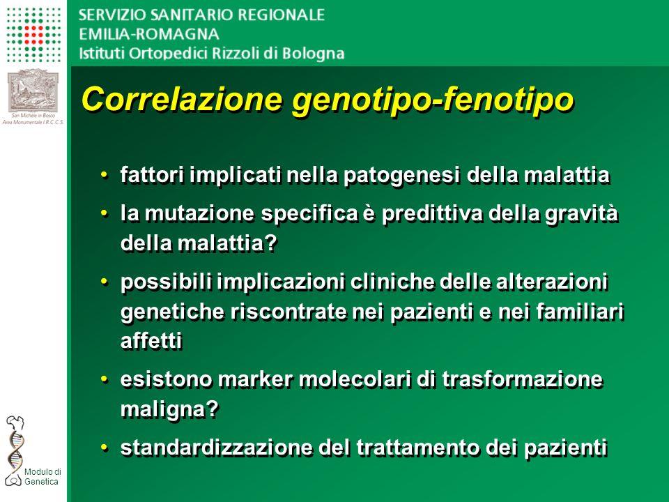 Correlazione genotipo-fenotipo