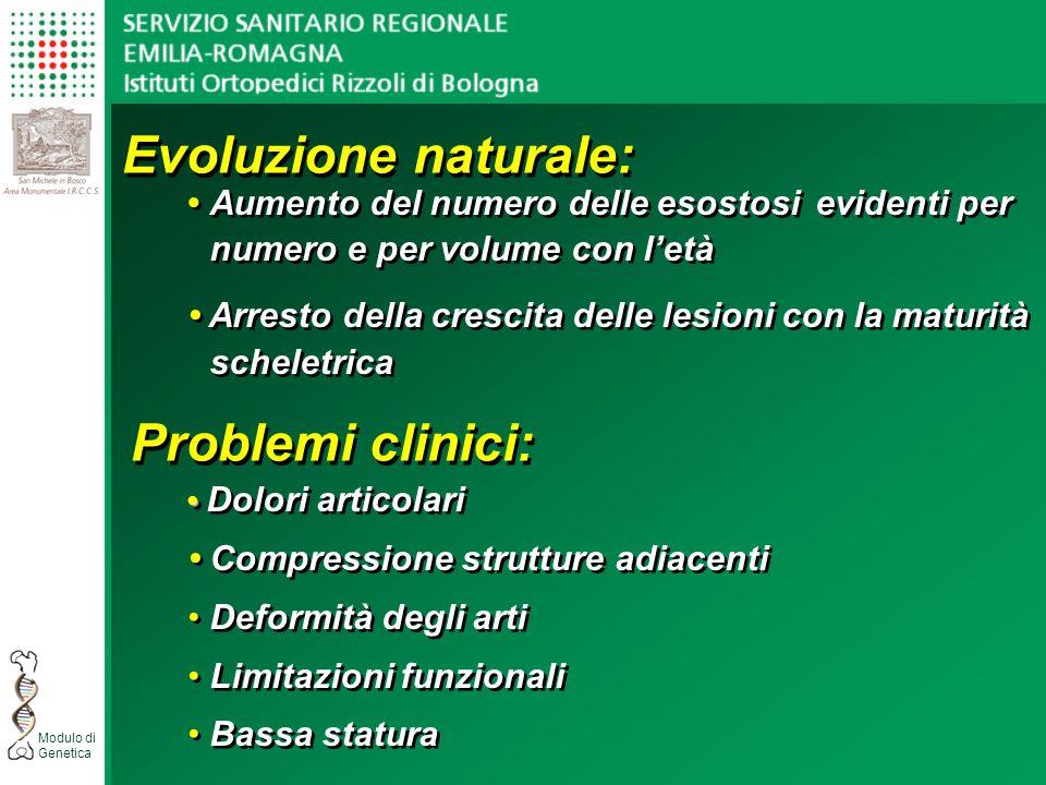 Evoluzione naturale: Problemi clinici:
