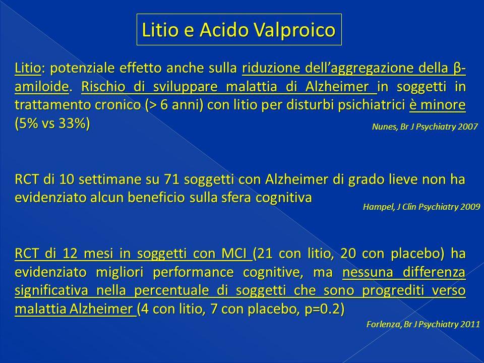 Litio e Acido Valproico