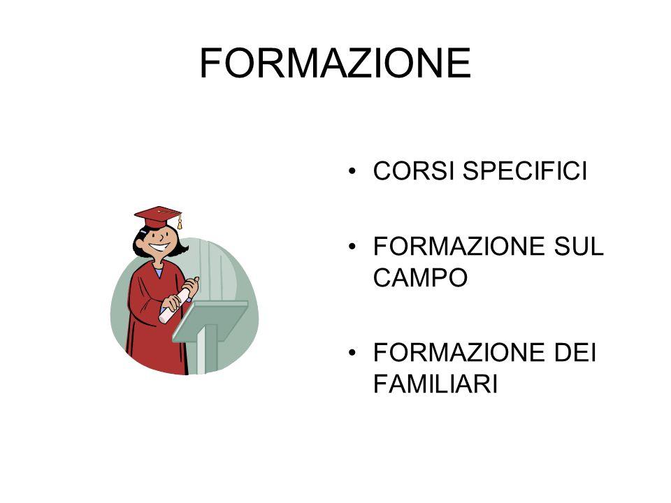 FORMAZIONE CORSI SPECIFICI FORMAZIONE SUL CAMPO