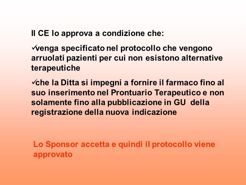 Il CE lo approva a condizione che: