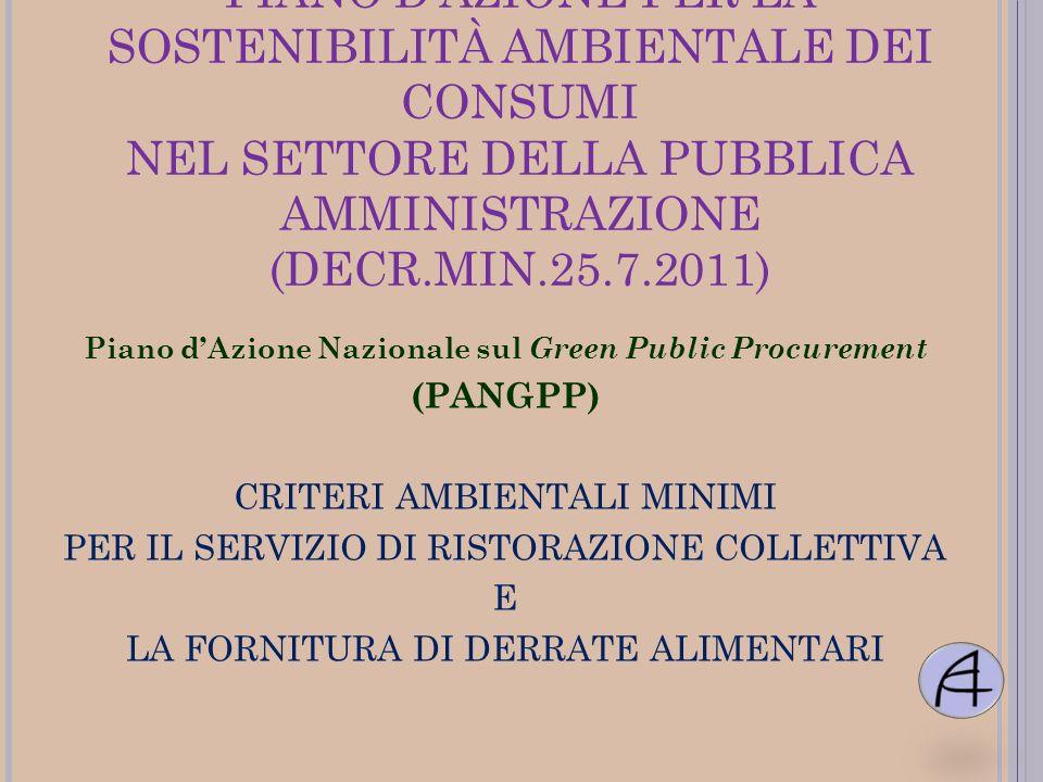 Piano d'Azione Nazionale sul Green Public Procurement