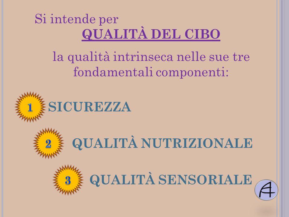 la qualità intrinseca nelle sue tre fondamentali componenti: