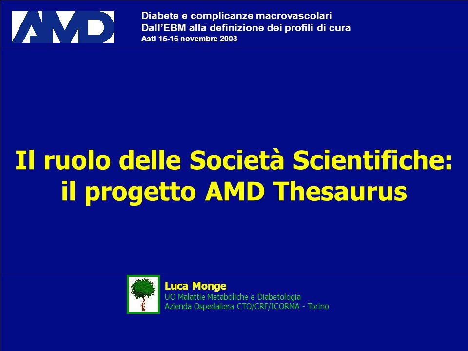 Il ruolo delle Società Scientifiche: il progetto AMD Thesaurus