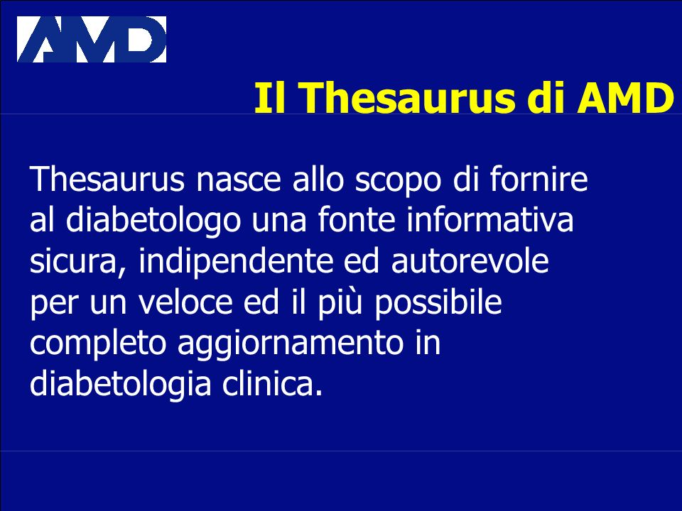 Il Thesaurus di AMD