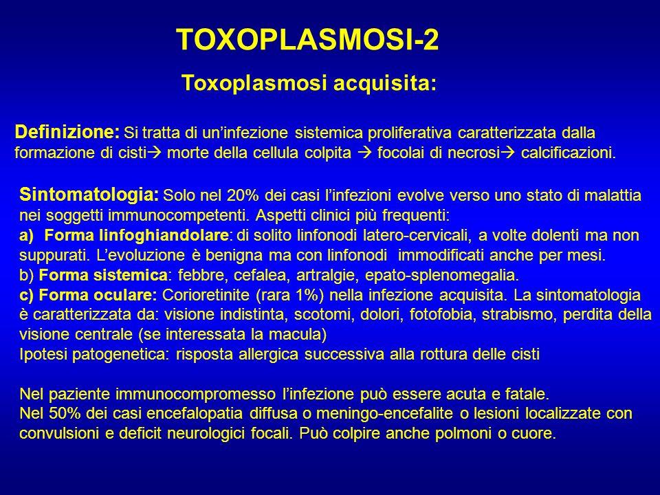 TOXOPLASMOSI-2 Toxoplasmosi acquisita: