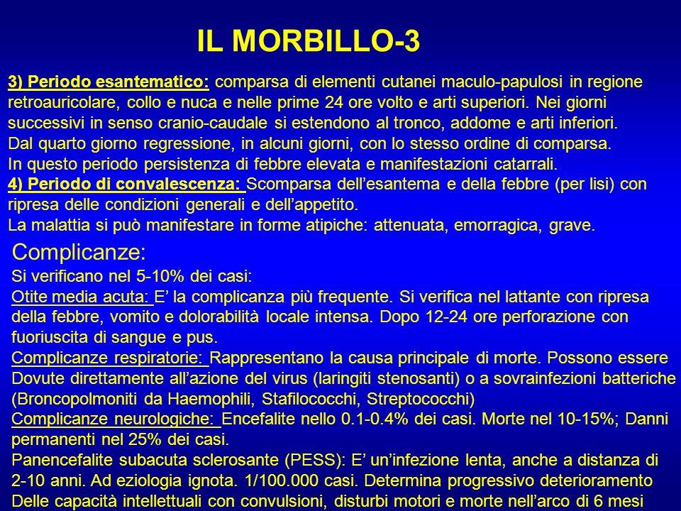 IL MORBILLO-3 Complicanze: