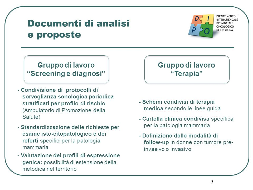 Documenti di analisi e proposte