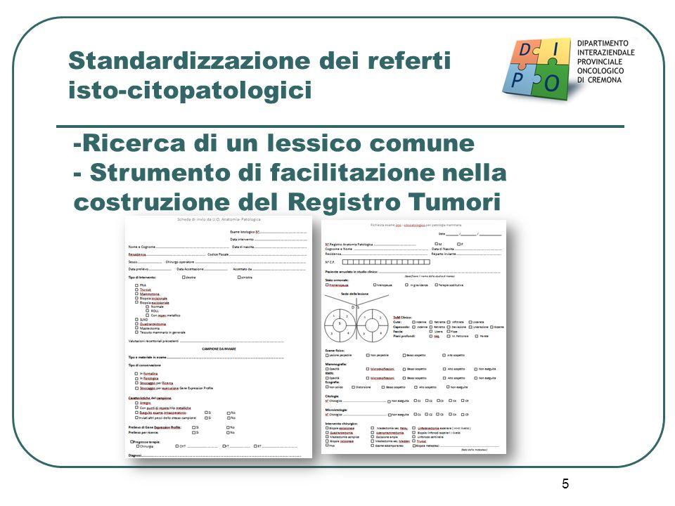 Standardizzazione dei referti isto-citopatologici