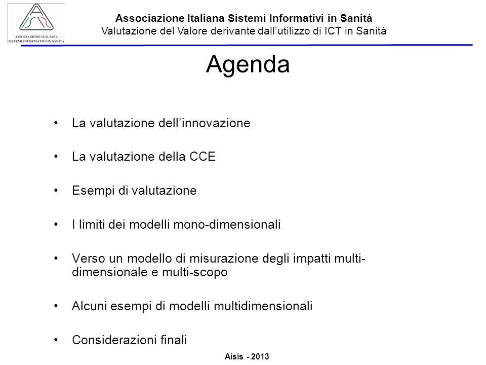Agenda La valutazione dell'innovazione La valutazione della CCE