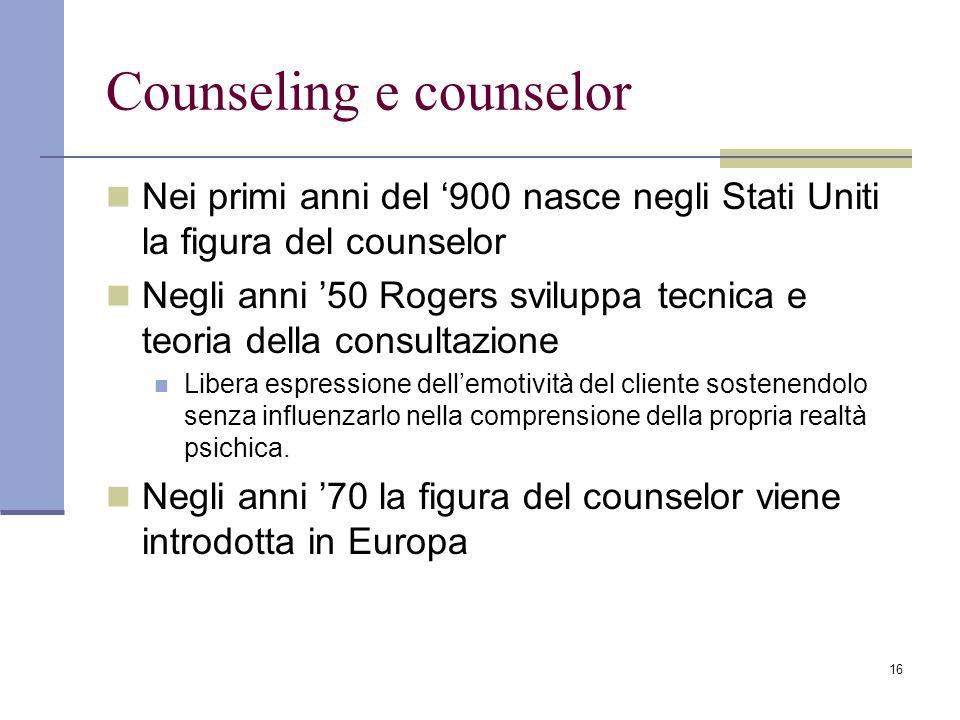 Counseling e counselor
