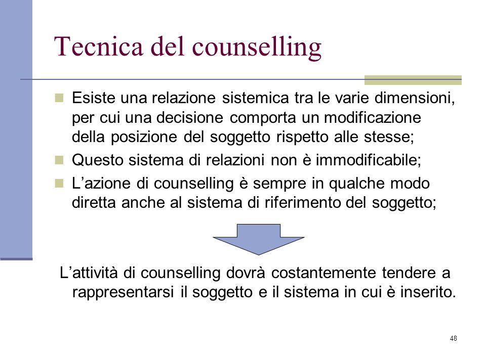 Tecnica del counselling