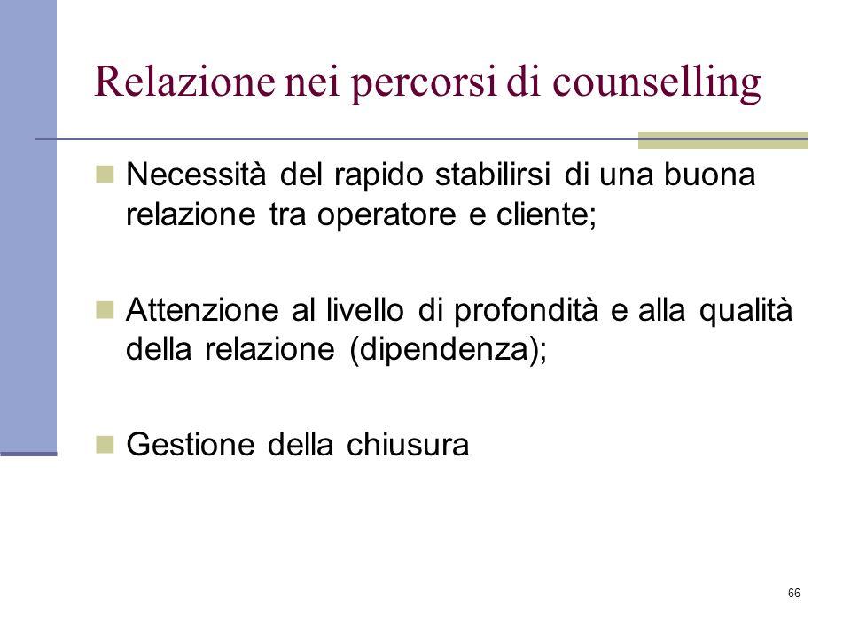 Relazione nei percorsi di counselling
