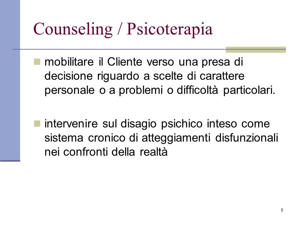 Counseling / Psicoterapia