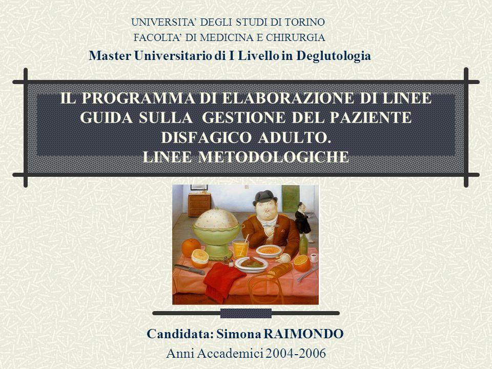Candidata: Simona RAIMONDO Anni Accademici 2004-2006