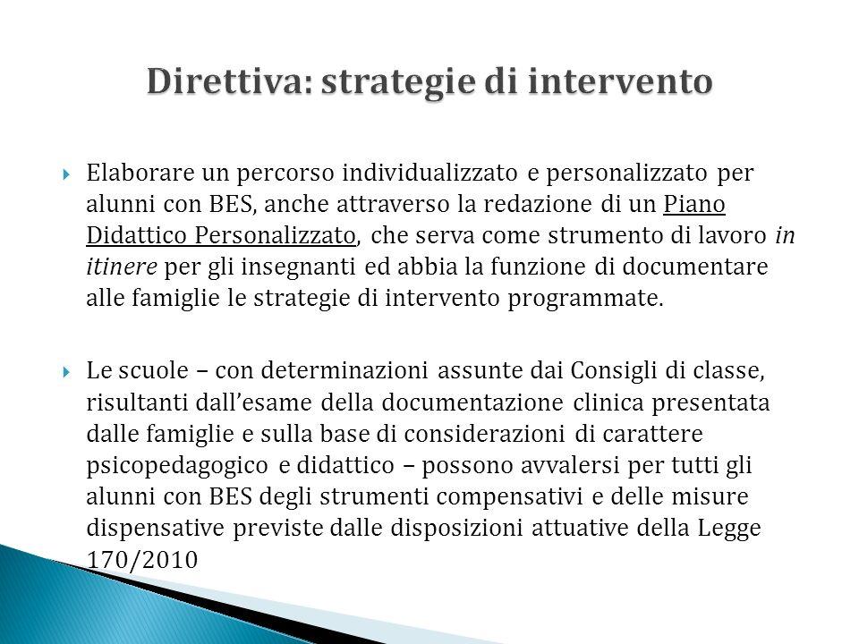 Direttiva: strategie di intervento
