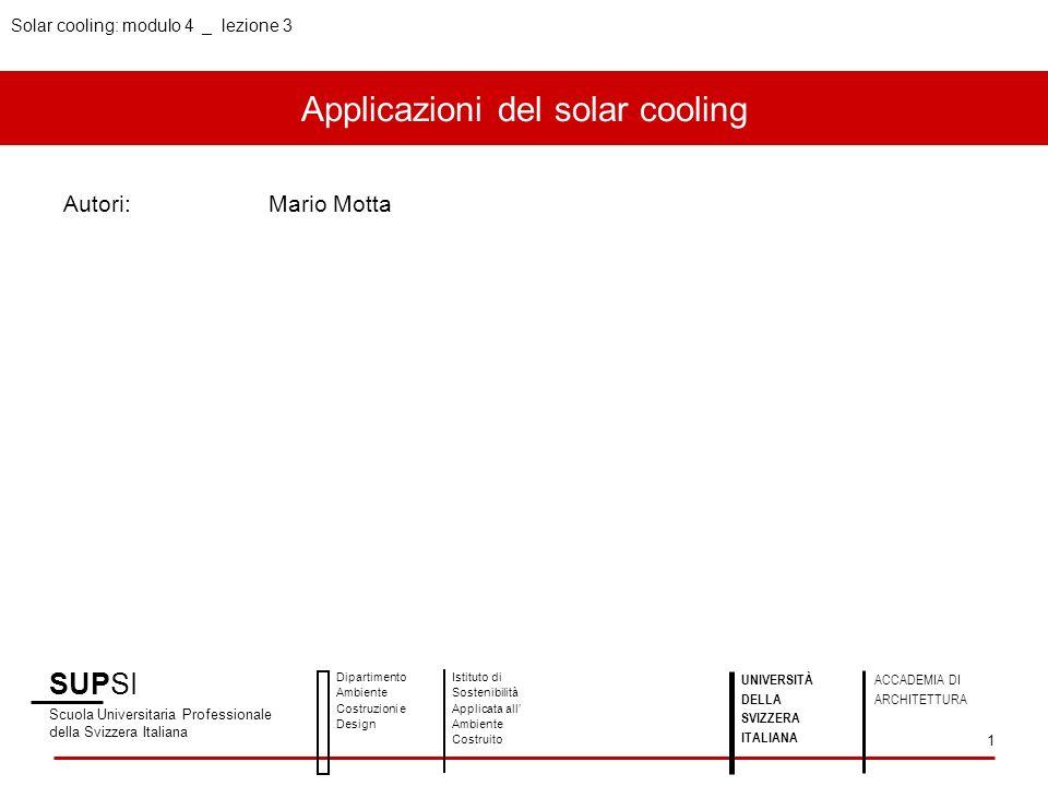 Applicazioni del solar cooling