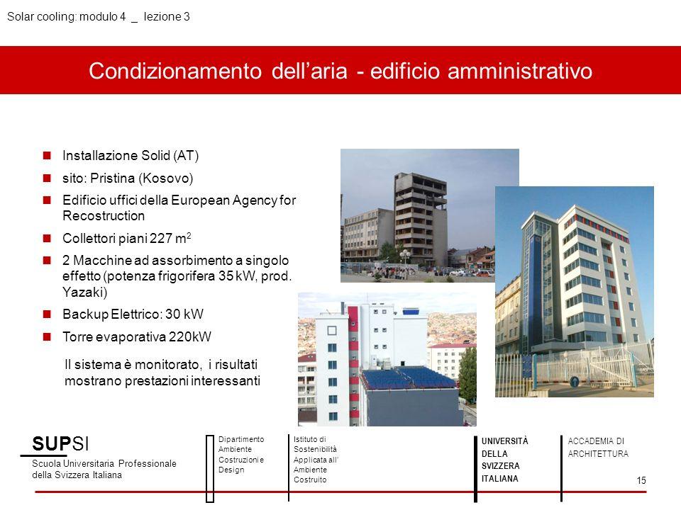 Condizionamento dell'aria - edificio amministrativo