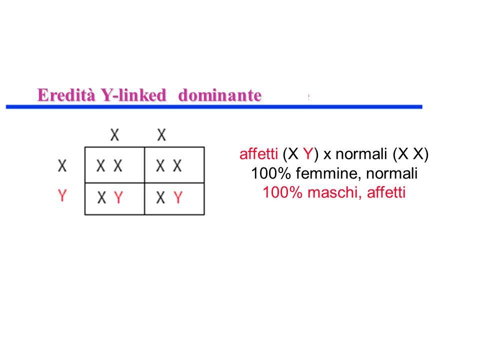 affetti (X Y) x normali (X X)