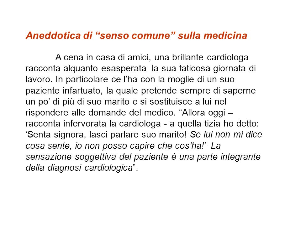 Aneddotica di senso comune sulla medicina