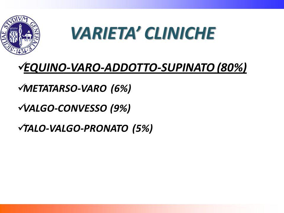 VARIETA' CLINICHE EQUINO-VARO-ADDOTTO-SUPINATO (80%)