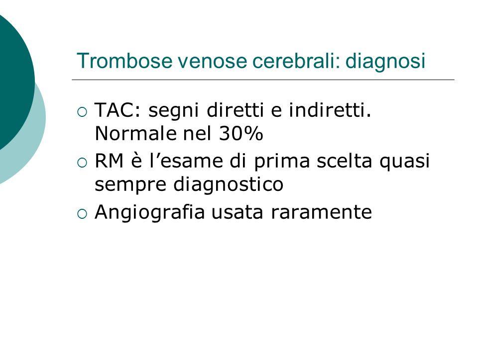 Trombose venose cerebrali: diagnosi