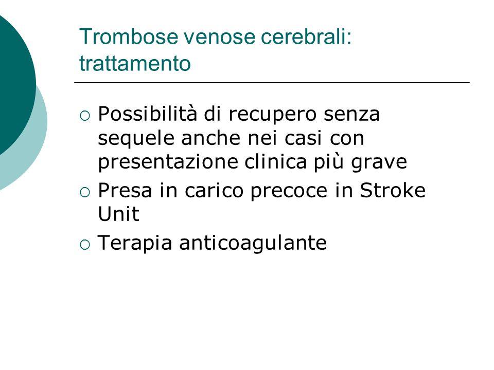 Trombose venose cerebrali: trattamento