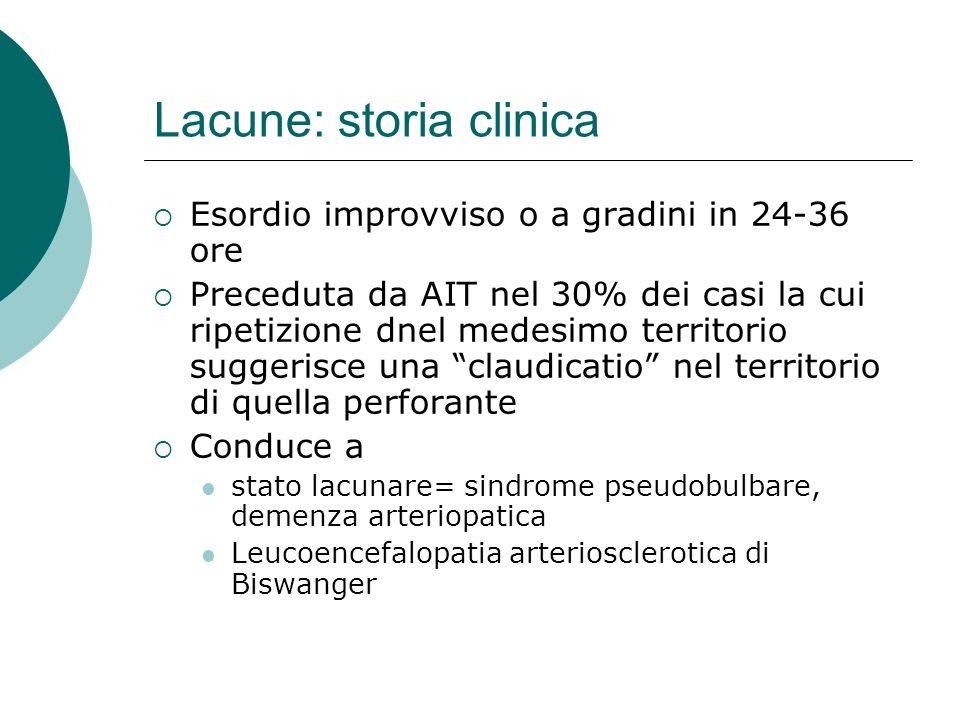 Lacune: storia clinica