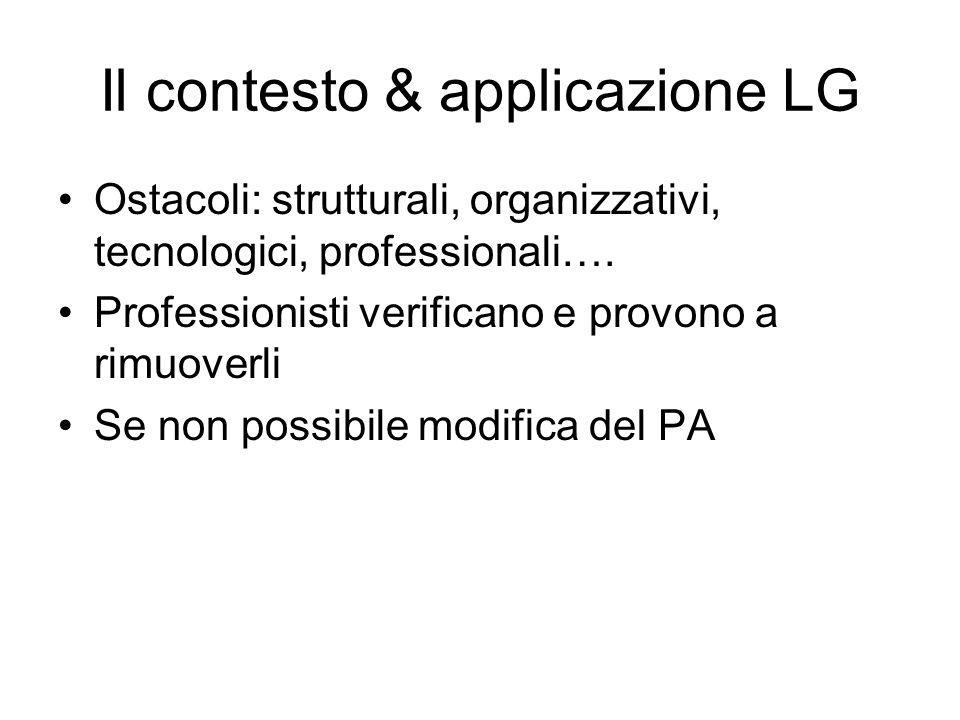 Il contesto & applicazione LG