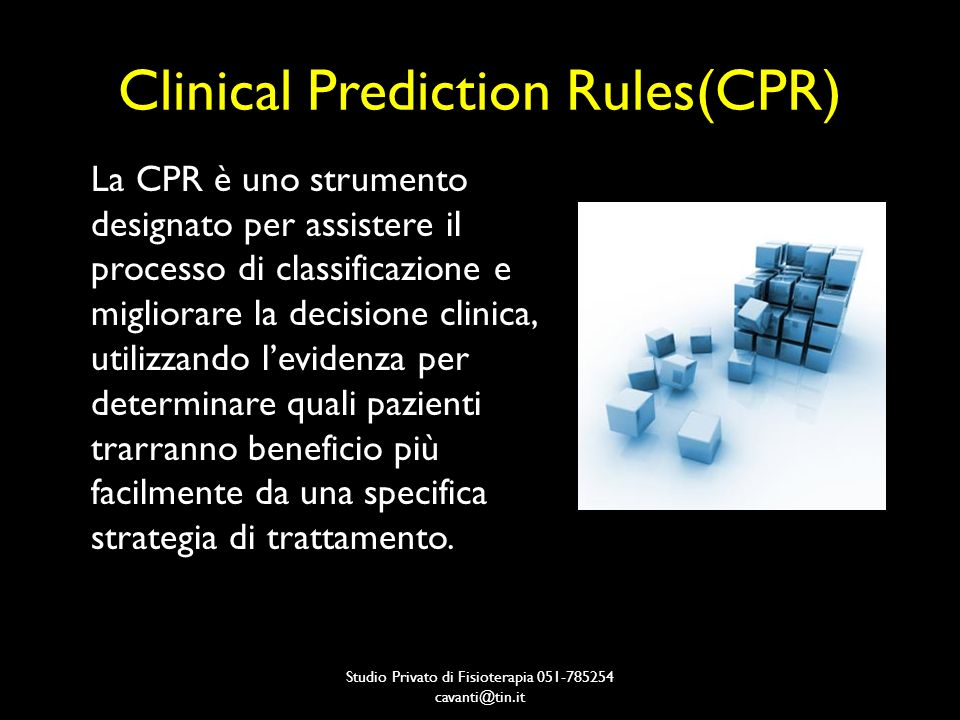 Clinical Prediction Rules(CPR)