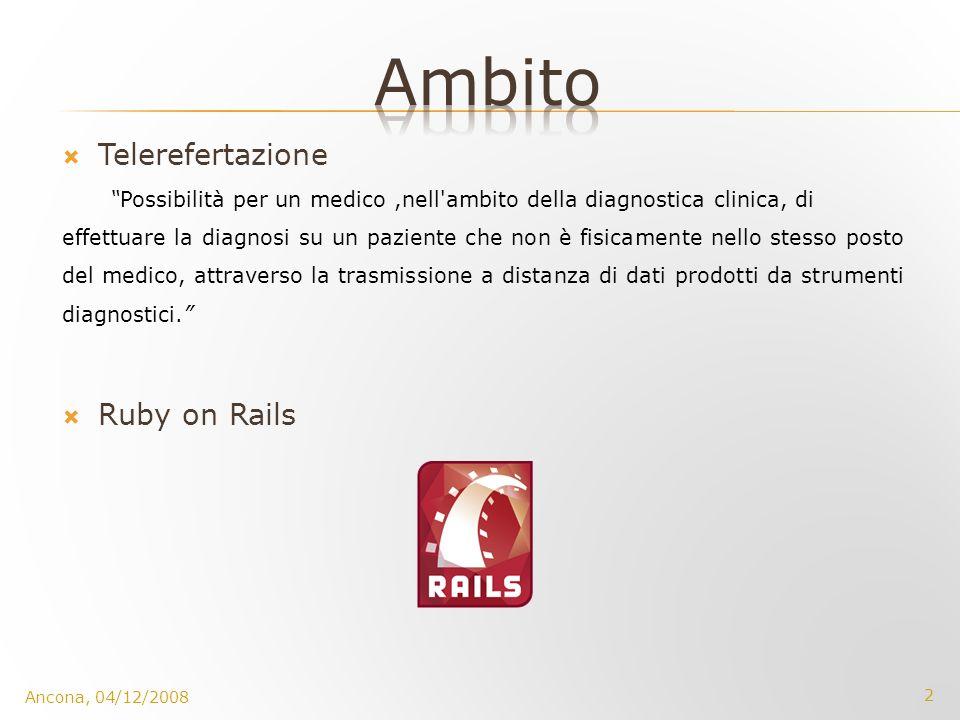 Ambito Telerefertazione Ruby on Rails
