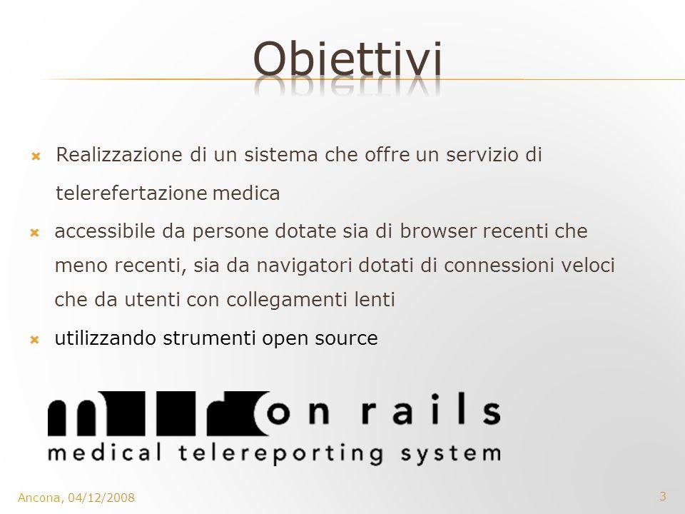 Obiettivi Realizzazione di un sistema che offre un servizio di telerefertazione medica.
