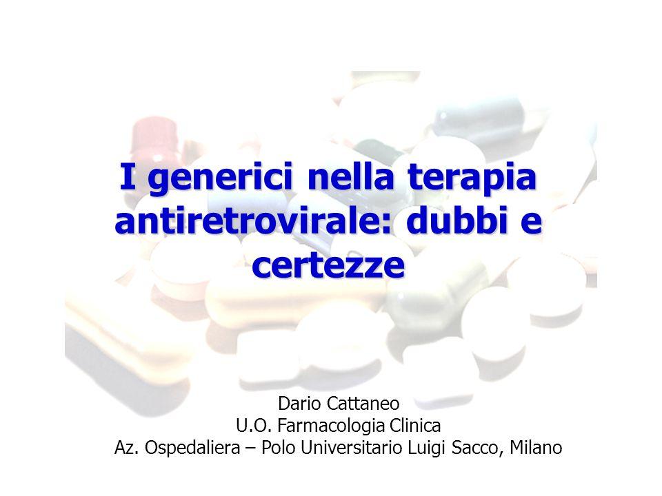 I generici nella terapia antiretrovirale: dubbi e certezze
