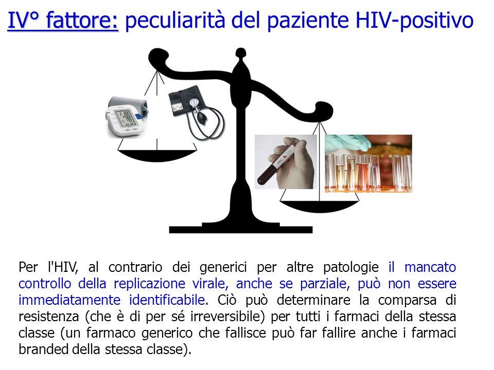 IV° fattore: peculiarità del paziente HIV-positivo