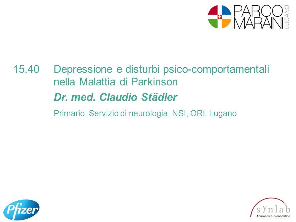 15. 40. Depressione e disturbi psico-comportamentali