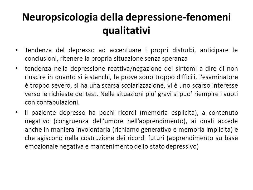 Neuropsicologia della depressione-fenomeni qualitativi