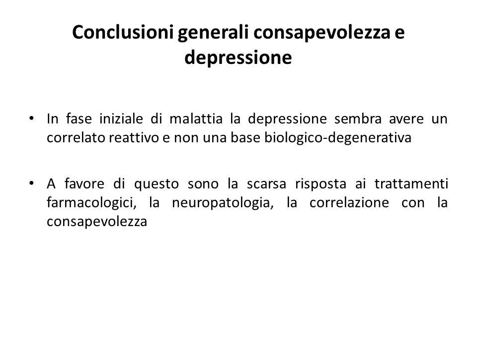 Conclusioni generali consapevolezza e depressione