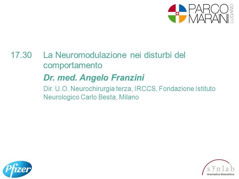 17.30 La Neuromodulazione nei disturbi del comportamento