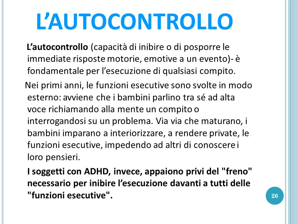 L'AUTOCONTROLLO